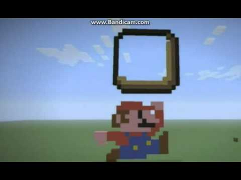 Minecraft tutorial awsome mario pixel art