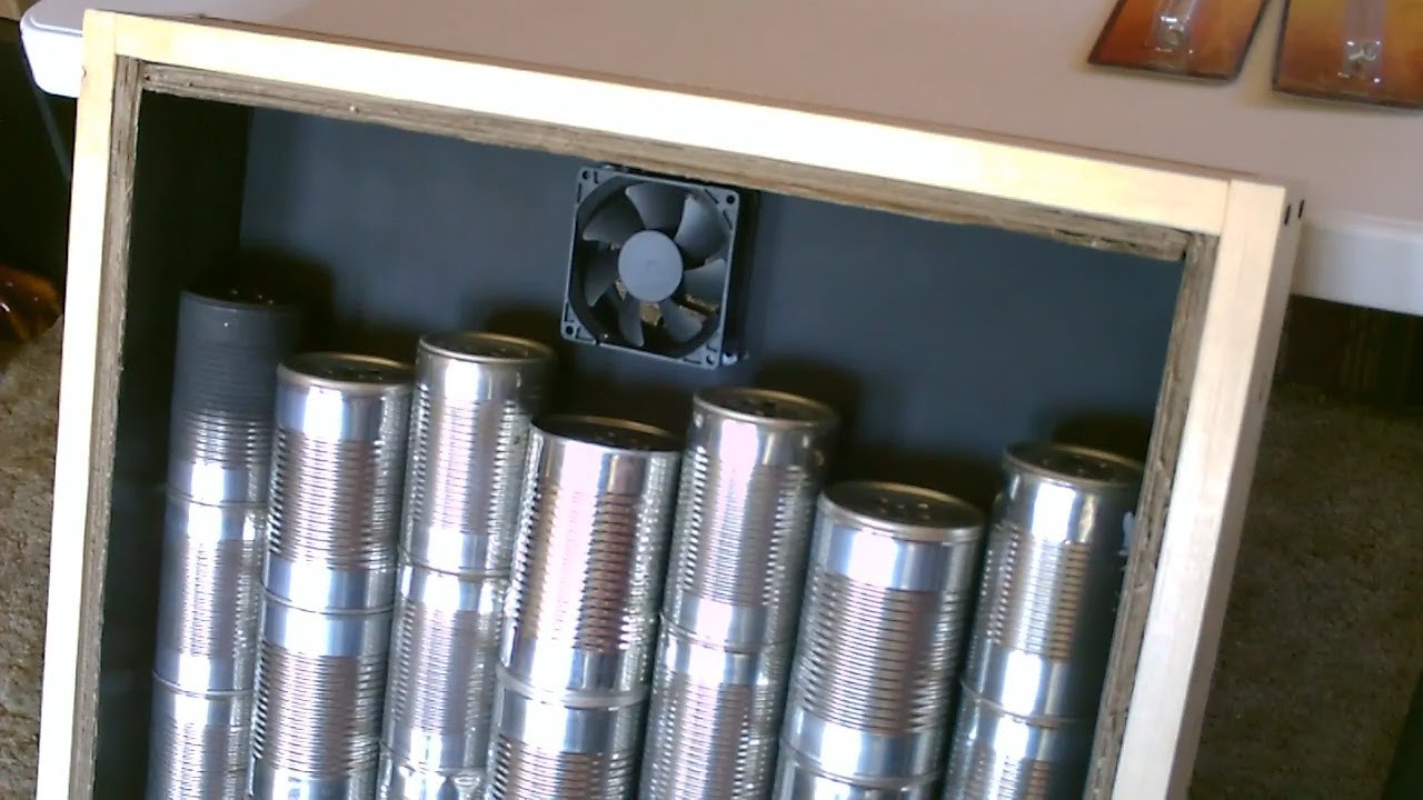 Solar Air Heater Diy Homemade Steel Can Air Heater