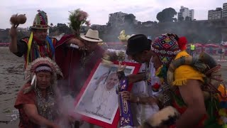 Shamans perform ritual for pope's visit to Peru