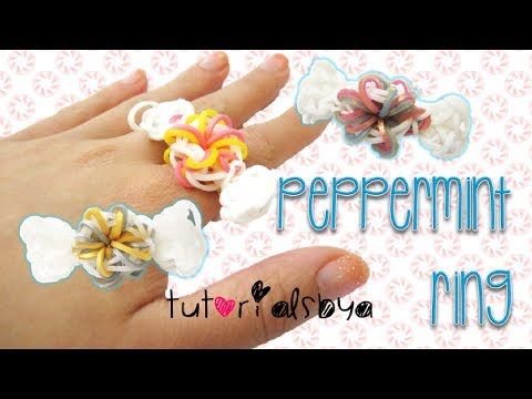 Peppermint Ring Rainbow Loom Tutorial   How To