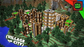 Minecraft | LARGE TAIGA VILLAGE City Survival Base!