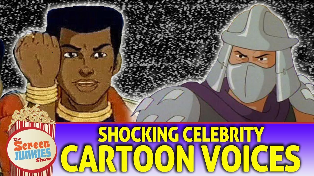 Celebrity cartoon voices over