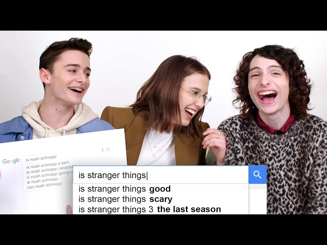 Millie Bobby Brown, Finn Wolfhard amp Noah Schnapp Answer the Web39s Most Searched Questions  WIRED