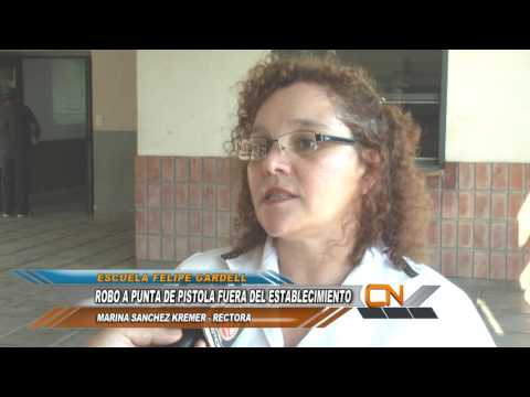 Robaron a punta de pistola a la Directora de la Escuela Felipe Gardell cuando estaba ingresando al establecimiento.