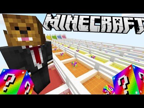 Minecraft RAINBOW LUCKY BLOCK RACE!   (Minecraft Modded Minigame)