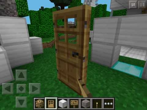 MCPE Glitch: Replace ANYTHING With A Door Amazing Map Making Tool Alternative Redstone