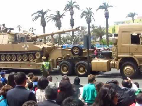 Parada Militar Arica 18 de Septiembre de 2014 (Desfile de Armamento y Blindados)