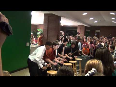 Lake Dallas High School Percussion Concert 2012 Stool Jam