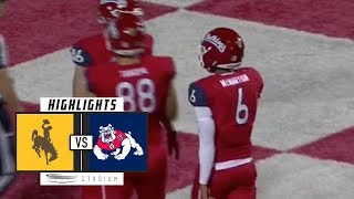 Wyoming vs. Fresno State Football Highlights (2018) | Stadium