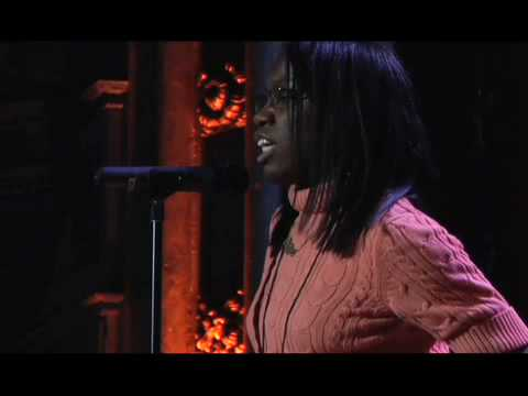 Britney Wilson at the 2008 Urban Word NYC Teen Poetry Slam Finals