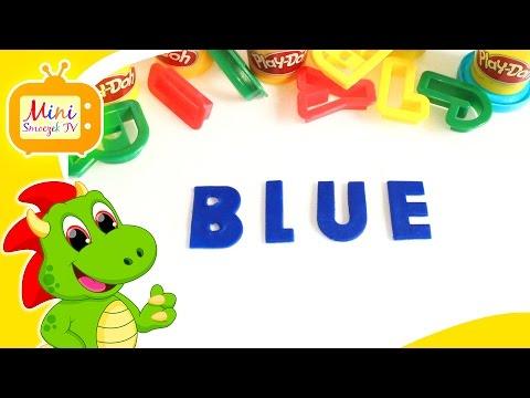 Nauka Angielskiego - Kolory Po Angielsku - Słowa Z Ciastoliny - BLUE - Angielski Dla Dzieci