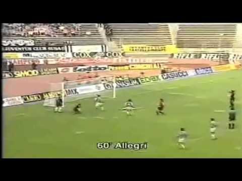 Serie A 1994-1995, day 34 Juventus - Cagliari 3-1 (Del Piero, Allegri, Vialli, Ravanelli)