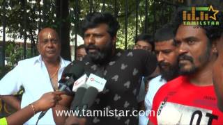 Kanna Pinna Movie Team Fasting Protest
