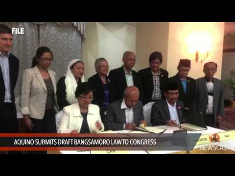 Aquino submits draft Bangsamoro law to Congress