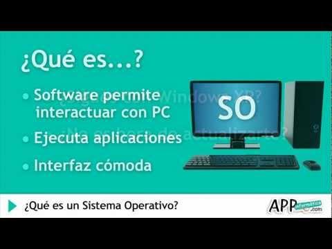 ¿Que es un Sistema Operativo?  l   APPinformatica.com