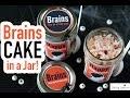 Brain Cupcake in a Jar - Halloween Party Dessert Recipe