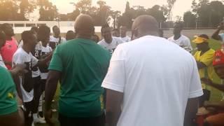 Ghana players chant ahead of 2015 AFCON clash against Algeria