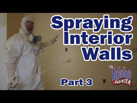 spraying videolike. Black Bedroom Furniture Sets. Home Design Ideas