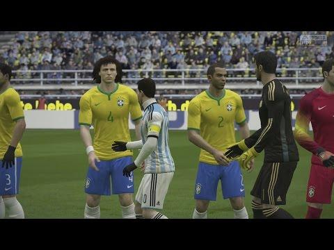 FIFA 15 Gameplay en PS4 , Argentina Vs Brasil, Un partido muy Rudo!!! Simulación
