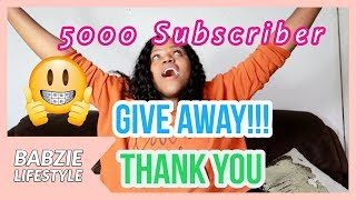 5000 Subscriber Giveaway (CLOSED)| Babzie Lifestyle