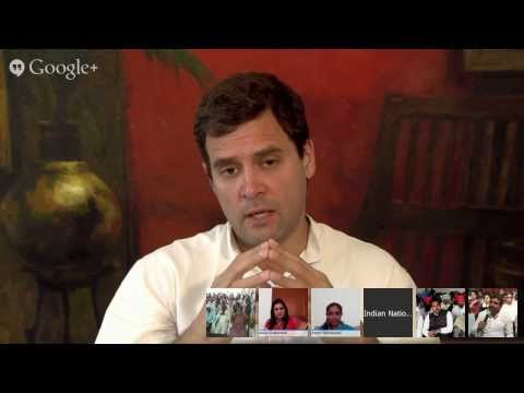 INC Presents Google Hangout with Shri Rahul Gandhi