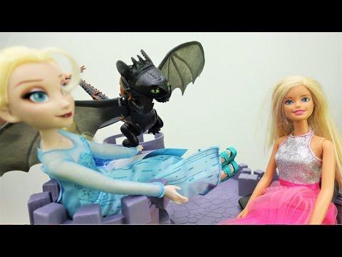 #Кен спасает #Барби из замка Эльзы (Холодное сердце). Смешное видео | Мультики для девочек про Барби