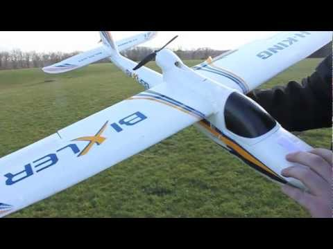 RC Bixler Plane Maiden Flight