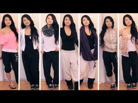 lookbook styling outfits with sweatpants fashion youtube