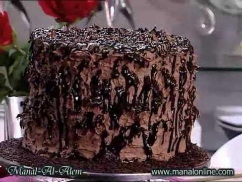 تورتة الشوكولاتة العالية منال العالم Youtube
