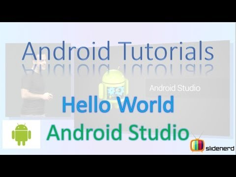 Hello World Android Studio- Android Application Development Tutorial  [HD 1080p]