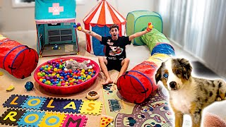 BUILDING MY NEW PUPPY HER DREAM HOUSE!! **insane**