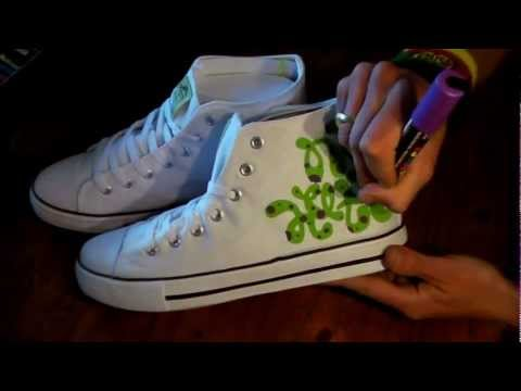 HOW TO GRAFFITI SNEAKERS #1 draw hip hop shoes style kicks fashion art tv wars tutorial letters