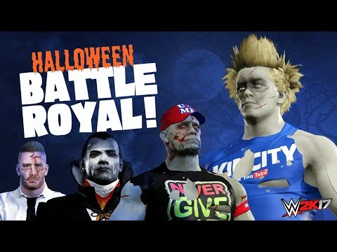 WWE 2k17 Halloween Battle Royal! SCARY Zombie John Cena & Lil Flash!