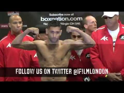 AMIR KHAN v JULIO DIAZ - OFFICIAL WEIGH IN / THE RETURN OF THE KING / iFILM LONDON