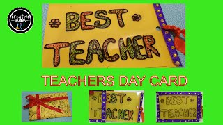 Creative mom tanu viyoutube magic card for teacher on teachers day card making competition easy card making for m4hsunfo Image collections