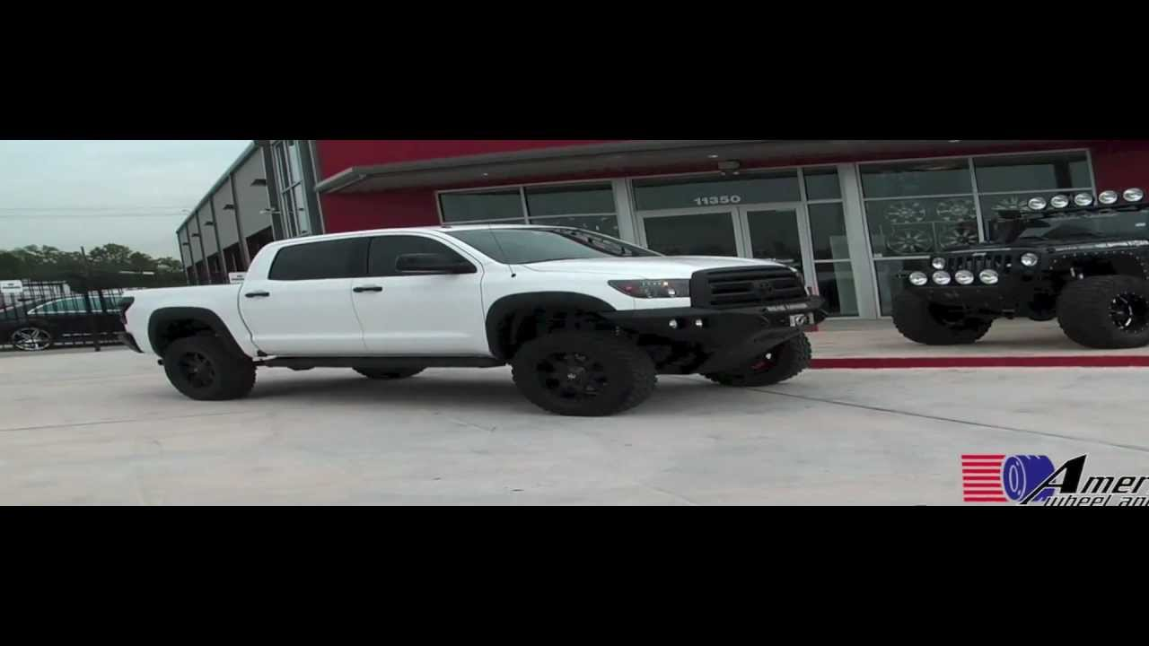 2012 Toyota Tundra Aftermarket Accessories Lifted White Toyota Tundra with Fuel Octane Wheels - YouTube