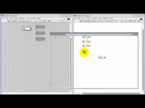 NI LabVIEW: Global variables