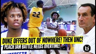 DUKE OFFERED HIM AFTER THE GAME?! DJ Steward vs Sharife Cooper PEACH JAM Battle Needs Overtime!