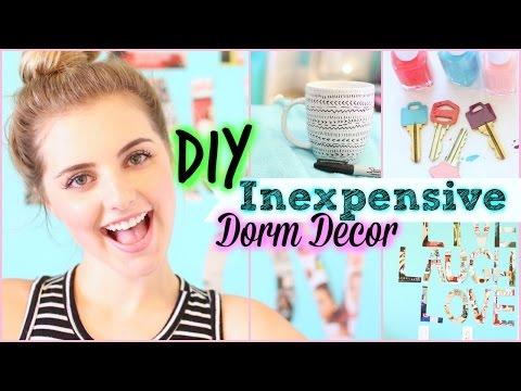 10 Easy & Inexpensive DIY Dorm Decor Ideas! | Aspyn Ovard