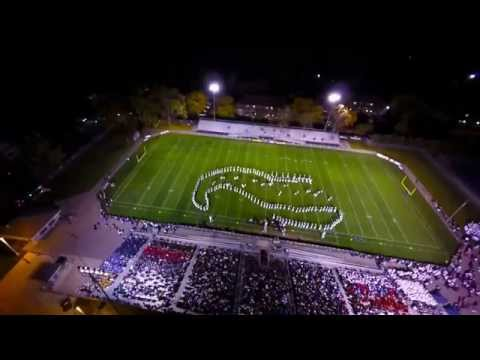 Grand Ledge High School Band at Invitational from viewpoint of a Drone
