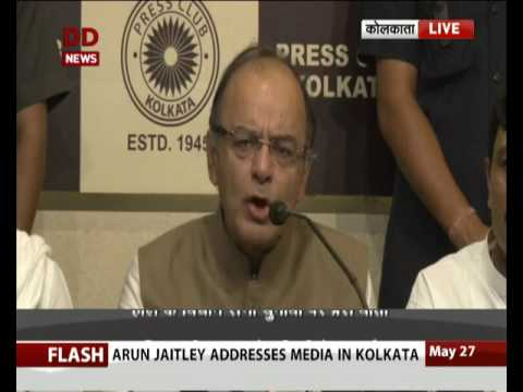Finance Minister addresses a Media in Kolkata on  Assembly Elections