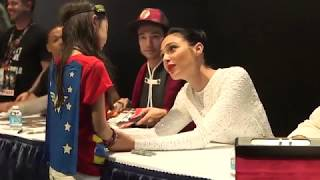 Gal Gadot comforts young Wonder Woman fan at Comic Con 2017