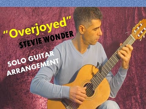 &quot;Overjoyed&quot; -(stevie wonder) Solo Guitar -Hagai Rehavia