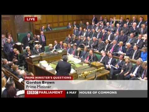 Gordon Brown at PMQs misses the bullying joke 6th May 2009