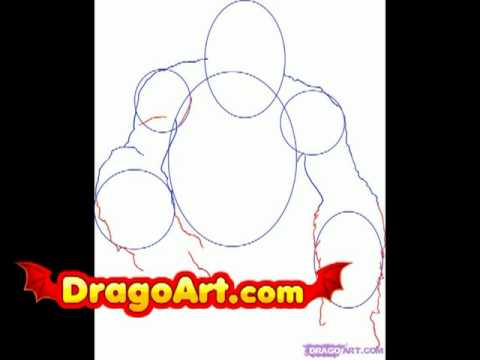 how to draw king kong step by step youtube