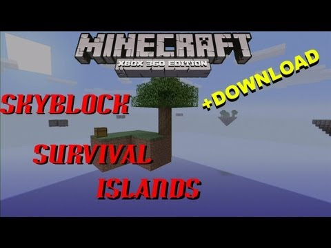Minecraft Xbox   SKY BLOCK SURVIVAL ISLANDS   +DOWNLOAD (Made By: R3APERGAMEPLAY)