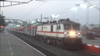 LHB MEETING: RAGING HOWRAH RAJDHANI MEETS BLASTING POORVA AT DANKUNI