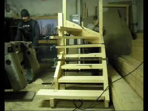 Montaje de una escalera