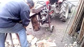 Homemade 10 ton tractor log splitter.