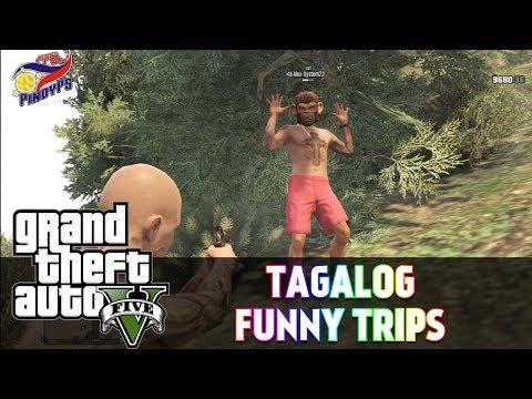 GTA 5 Online Tagalog Funny Trips: Boom Panes!, Monkey Hunt, Tagu-taguan, Random
